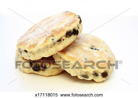 Clipart Welsh Cake : Stock Image of Welsh Cakes on white background x17118015 ...