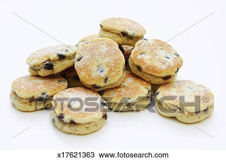 Clipart Welsh Cake : Stock Photo of Welsh cakes in pile on white background ...