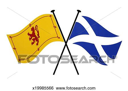 Stock Images Of Scottish Flags X19985566 Search Stock Photography