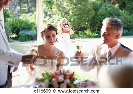 Stock Photography Of Groom Giving Toast At Wedding Reception