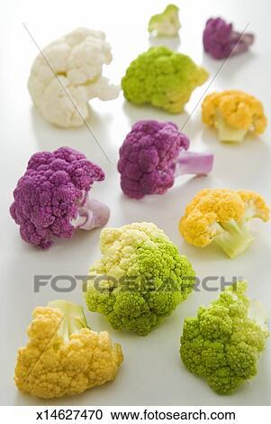 Banques De Photographies Fleurons De Colore Chou Fleur
