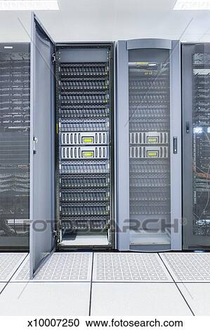 stock photography of computer server room x10007250 search stock