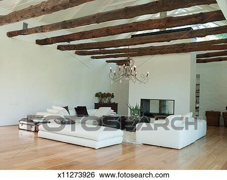 Stock Afbeeldingen - woonkamer, van, een, hippe, thuis x11273926 ...