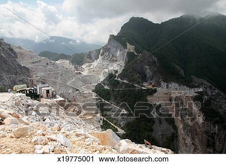 Carrara marble quarries, Italy Stock Image