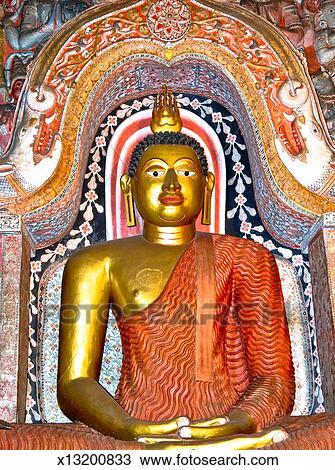 stock photo of statue of lord buddha at lankatilaka temple x13200833