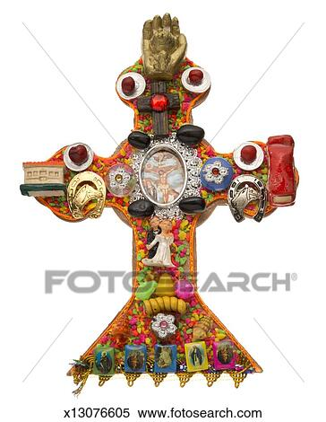 Stock Image Of Inca And Christian Religious Symbols Mixed X13076605
