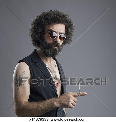 Capelli hippie uomo