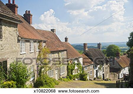 Traditional English Cottages Dorset Stock Photo X10822068