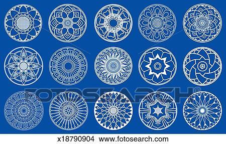 Drawings of lotus flowers circle design x18790904 search clip art lotus flowers circle design mightylinksfo