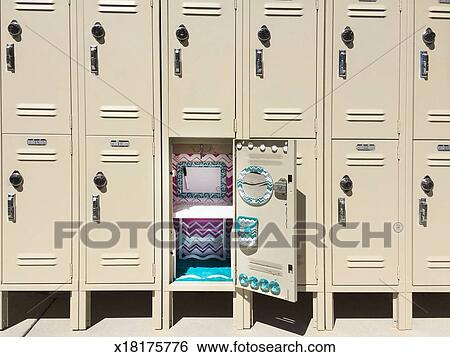 Stock Images Of Twelve Lockers With One Open X18175776