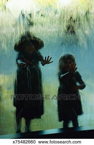 young girls touching