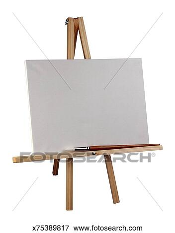 Picture Of Blank Canvas On An Easel X75389817 Search Stock
