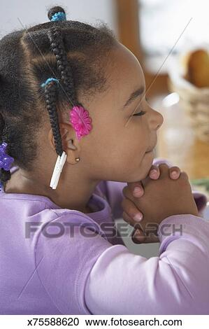 Stock Photography Of Little Girl Praying X75588620 Search Stock