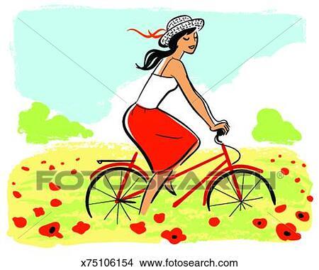 fscomps.fotosearch.com/compc/FSD/FSD713/mulher-bicicleta-equita%C3%A7%C3%A3o-desenhos__x75106154.jpg