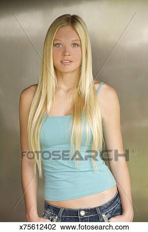 Blued Eyed Blonde Teen Girl