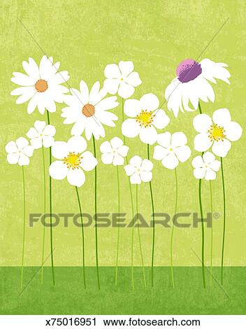 Clipart Of Spring Flowers X75016951 Search Clip Art Illustration