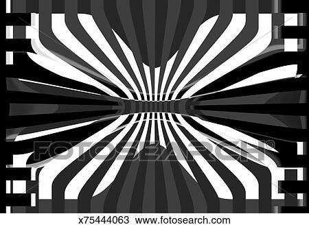 Noir Blanc Conception Abstraite Dessin