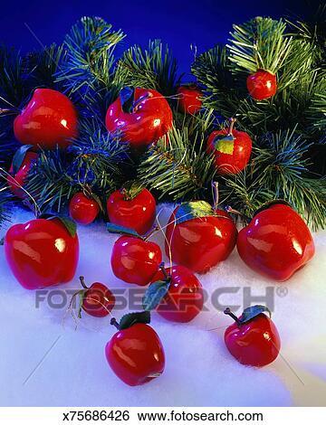 Stock Bilder Plastik Apfel Christbaumschmuck X75686426 Suche