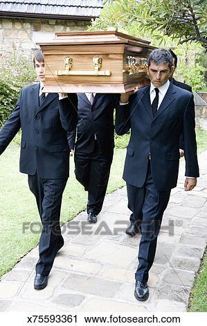 Cercueil, porteurs, porter, a, cercueil Banque