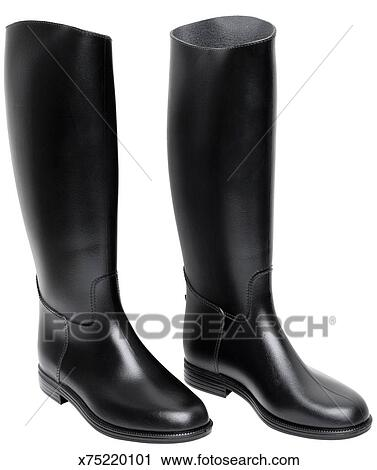 stock photography of horse riding boots black leather x75220101