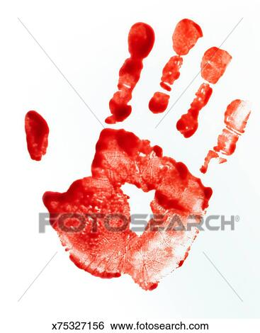 Bloody Handprint Stock Photograph
