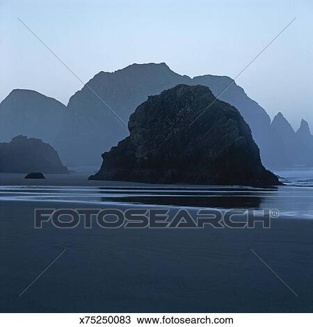 Sea Stacks In Myers Beach Oregon