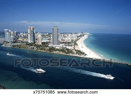 South Miami Beach Aerial View