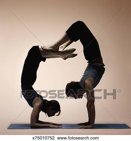 difficult yoga poses for two