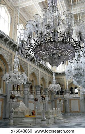 Stock photography of chandeliers in the nizam palace india chandeliers in the nizam palace india aloadofball Images