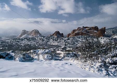 Despl047 Garden Of The Gods Colorado Springs Co Stock Image