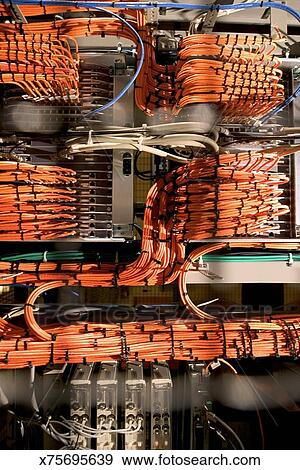 Admirable Wiring On Computer Server Rack Stock Photo X75695639 Fotosearch Wiring Digital Resources Funapmognl