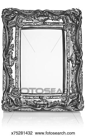 Stock Photo of Gilt ornate silver picture frame / photo frame ...