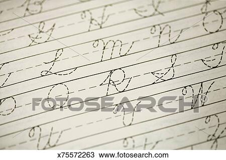Cursive Handwriting Practice - Letter