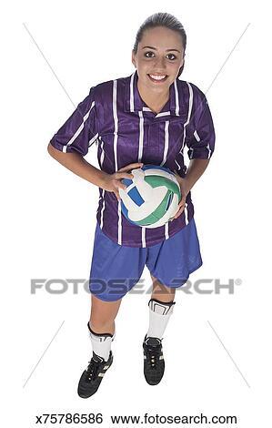 Teenager In Fussball Ausrustung Stock Fotograf