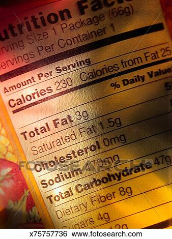 stock images of nutrition label x75757736 search stock photography
