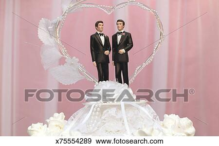Stock Photograph Of Gay Wedding Cake Topper X75554289 Search Stock