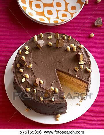 Stock Bilder Erdnussbutter Und Fondant Butter Kuchen X75155356