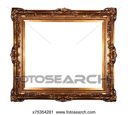 Stock Photography of Gilded frame x75354281 - Search Stock Photos ...