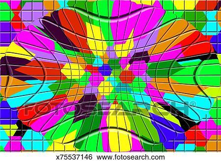 arquivos de ilustração multi coloured abstratos mosaico desenho