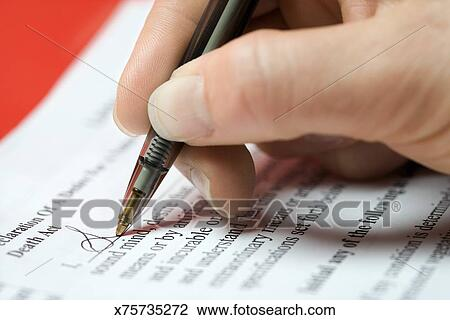 Stock Photo Of Woman Signing Legal Document X Search Stock - Signing legal documents