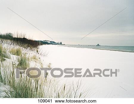 Snow Covered Beach Stock Image 109041