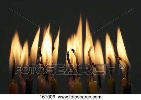 stock images of lit birthday candles at night 161006 search stock