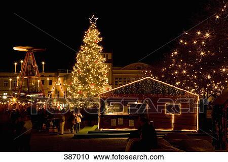 Deutschland Weihnachtsmarkt.Weihnachtsmarkt Berlin Deutschland Stock Bild