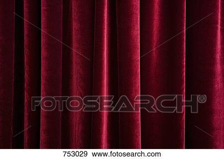 Stock Fotograf A Rot Samt Vorhang 753029 Suche Stock