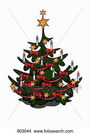clipart a dekoriert weihnachtsbaum 803044 suche clip. Black Bedroom Furniture Sets. Home Design Ideas