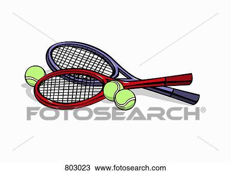 Clipart Of Tennis Rackets And Tennis Balls 803023 Search Clip Art