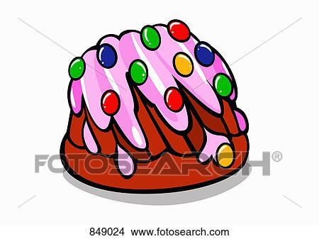 Clipart Ein Illustriert Kuchen 849024 Suche Clip Art