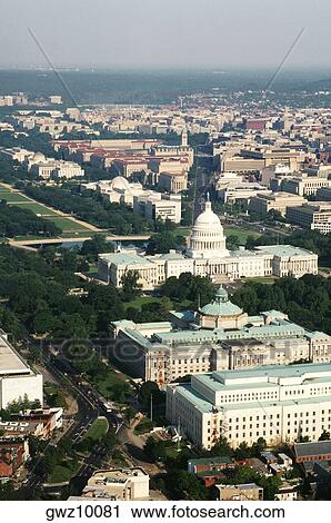 70b9d0bdab Stock Photography of Aerial view of a government building in a city ...
