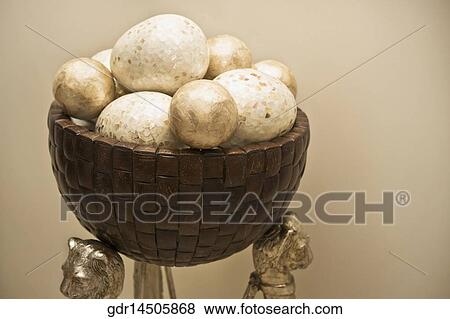 Decorative Balls In A Bowl Stock Photo Gdr14505868
