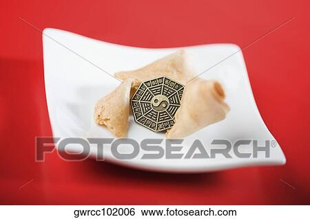 Stock Images Of Close Up Of Yin Yang Symbol On A Coin With Fortune